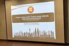 The plenary lecture by ASEAN Secretariat 'Future-ready youth, Future-ready ASEAN'