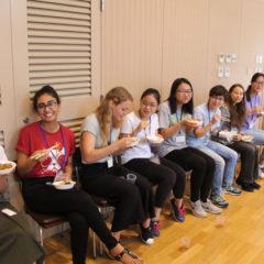 Ladies are enjoying Chinese dishes!